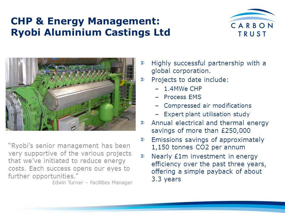 CHP & Energy Management: Ryobi Aluminium Castings Ltd