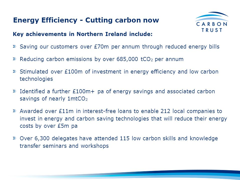 Energy Efficiency - Cutting carbon now