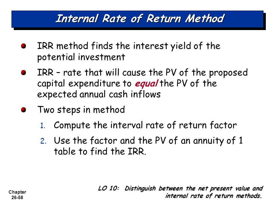 incremental rate of return formula