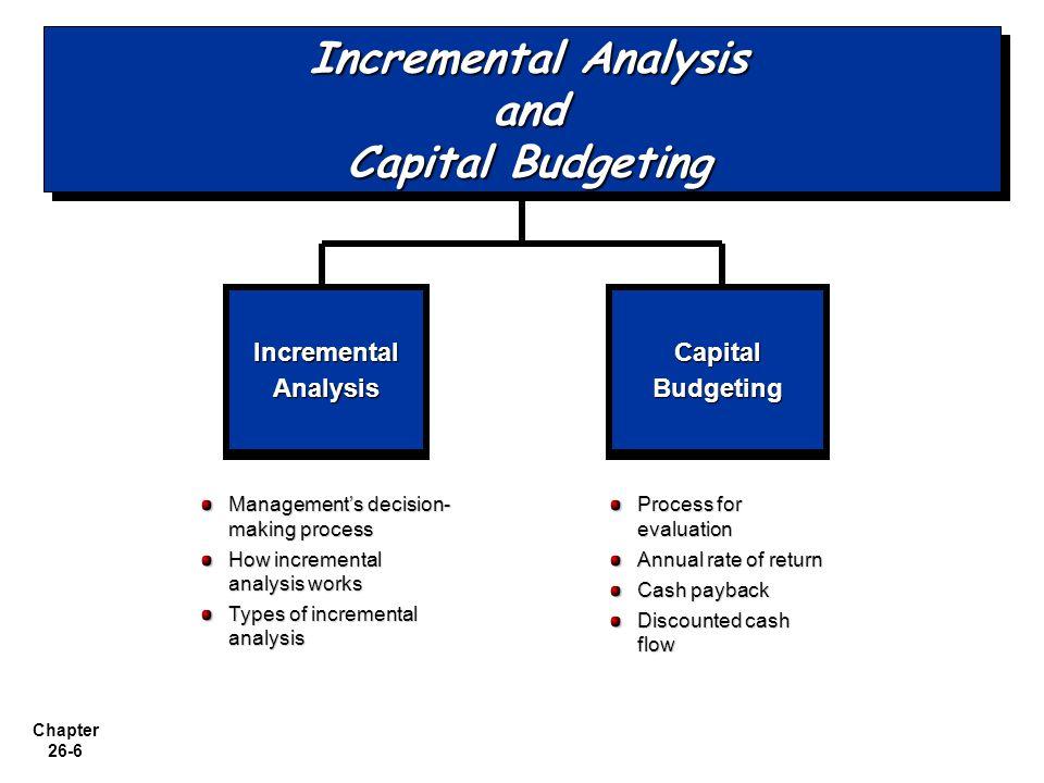 Incremental Analysis and Capital Budgeting