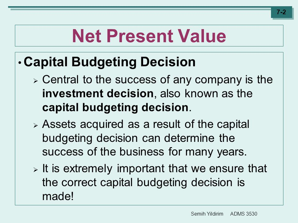 net present value and business Representing the present value of cash flows, the npv is generally used in the comparison of both internal and external investments in a business or company, assisting business owners in their business and investment decision-making process.