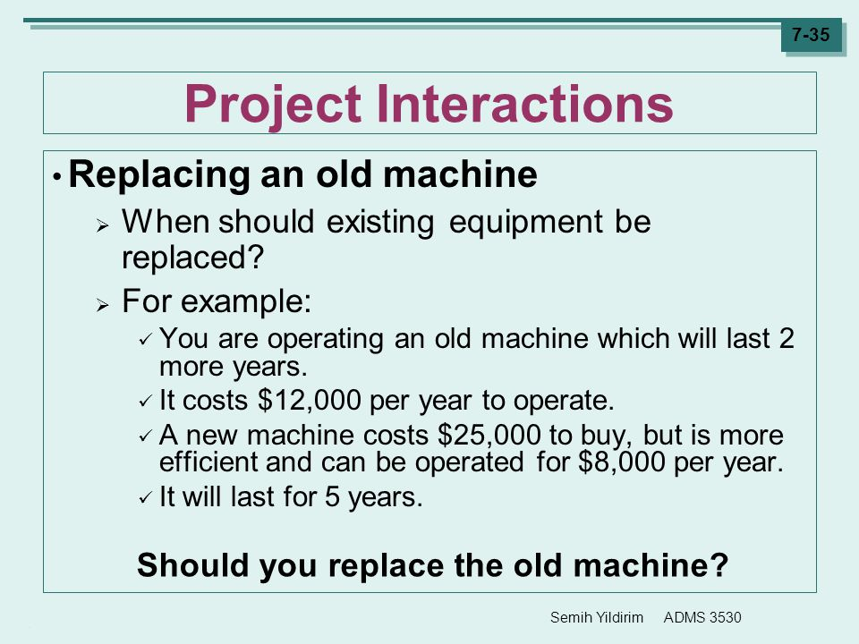 Should you replace the old machine