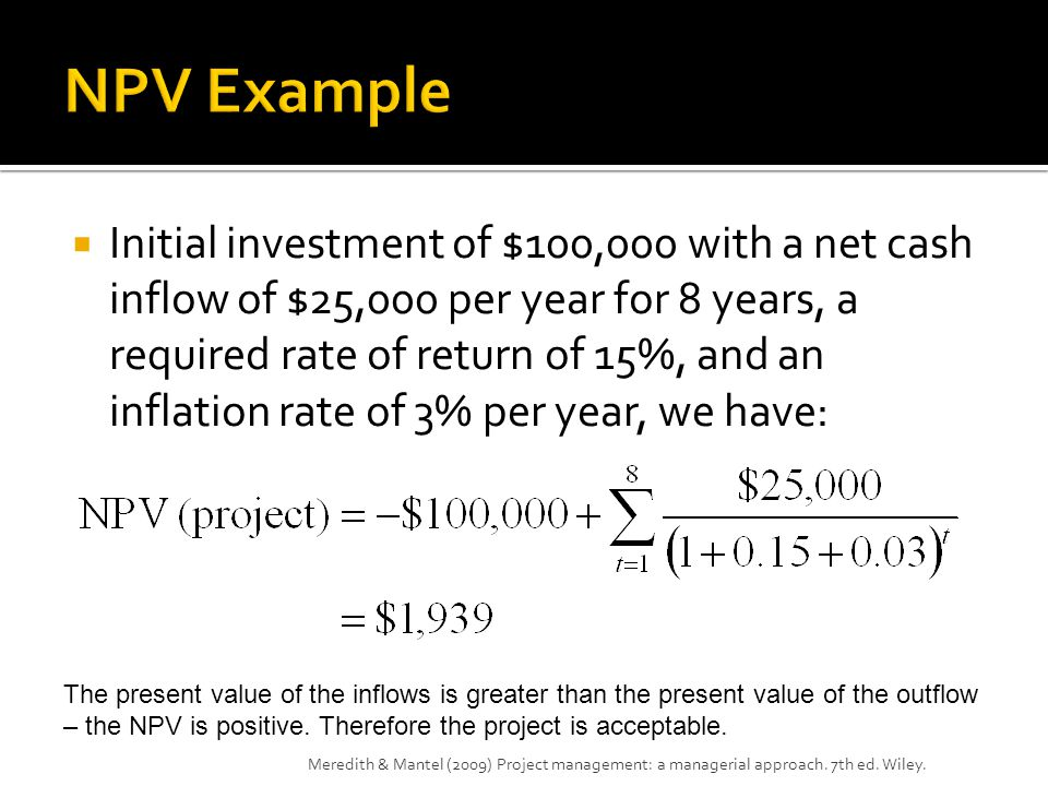 NPV Example