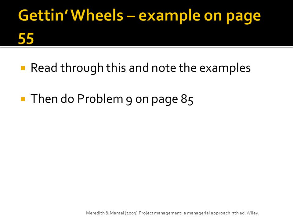 Gettin' Wheels – example on page 55