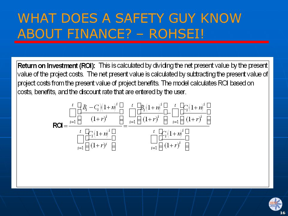 WHAT DOES A SAFETY GUY KNOW ABOUT FINANCE – ROHSEI!
