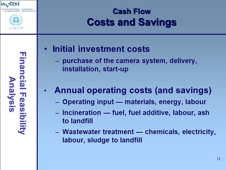 Cash Flow Costs and Savings