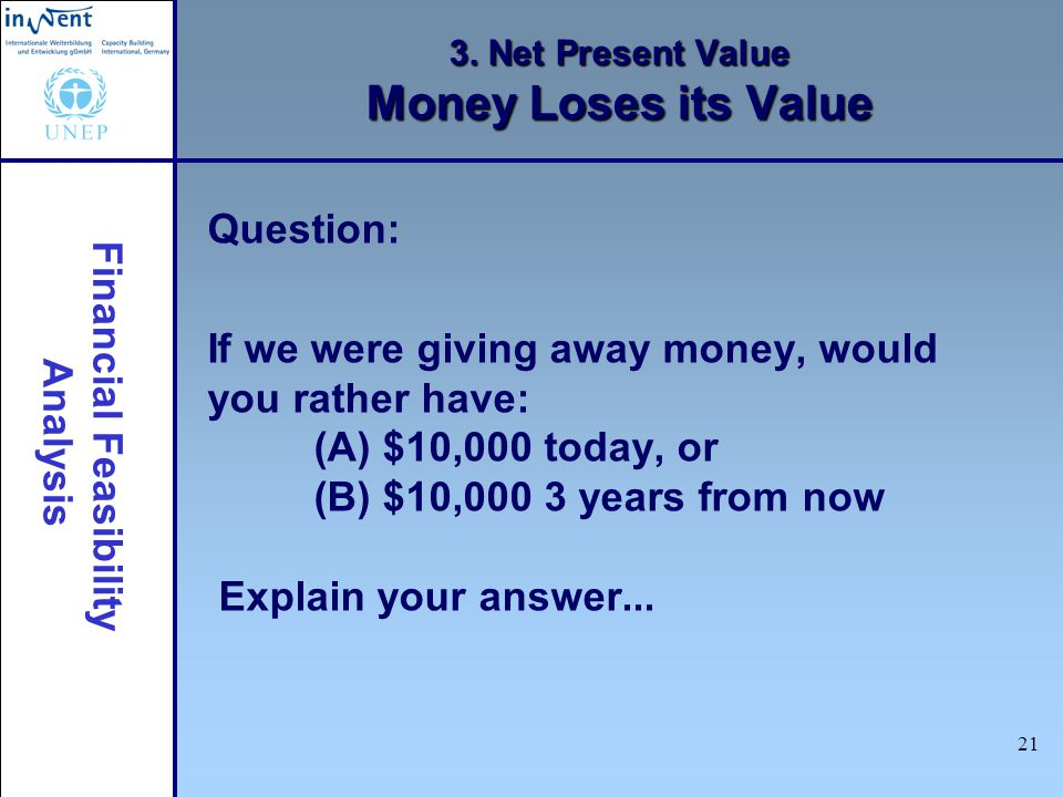 3. Net Present Value Money Loses its Value