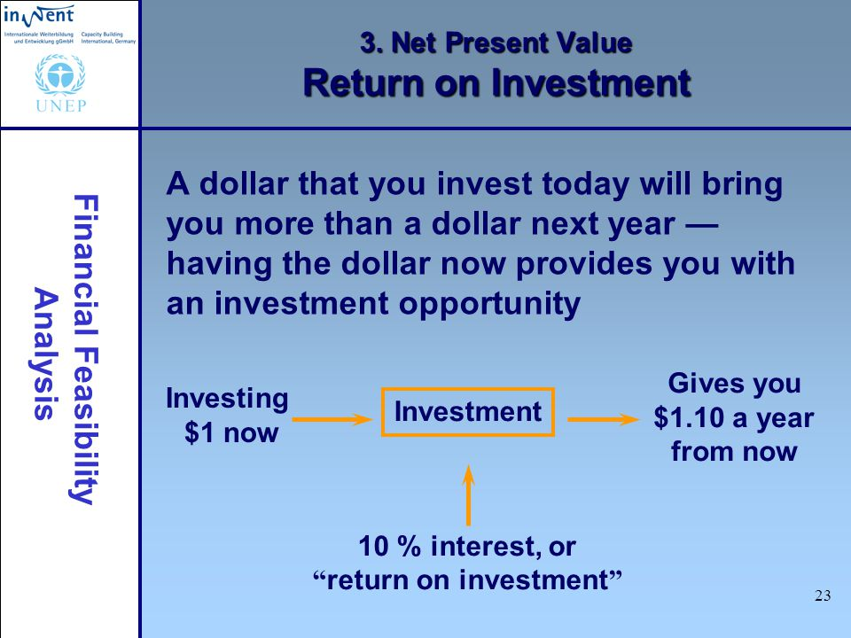 3. Net Present Value Return on Investment
