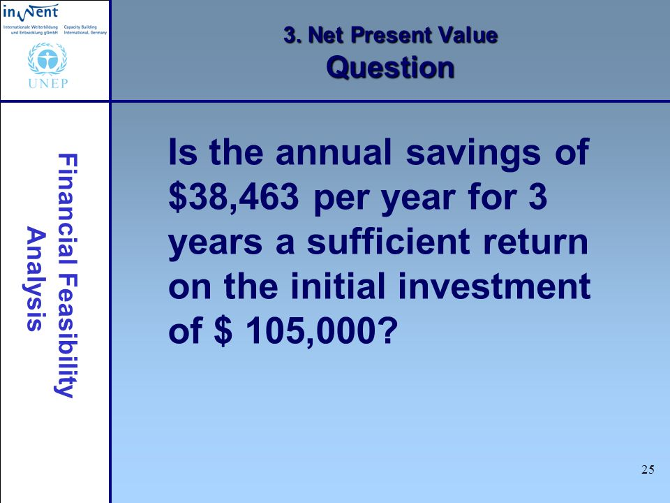 3. Net Present Value Question