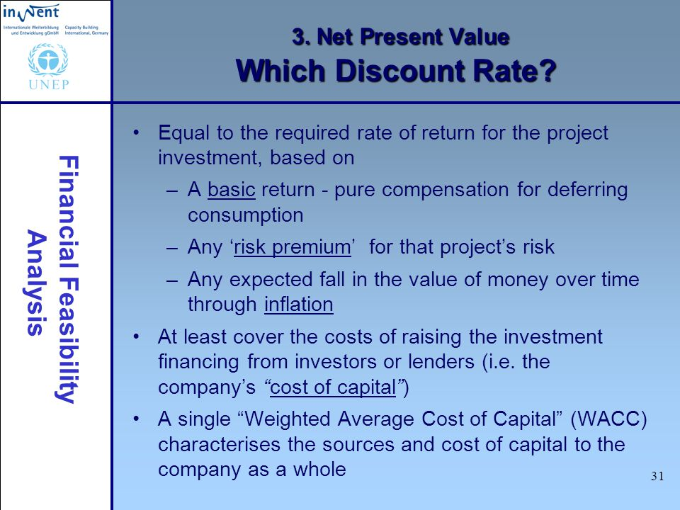 3. Net Present Value Which Discount Rate