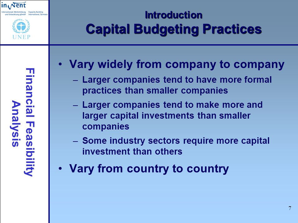 Introduction Capital Budgeting Practices