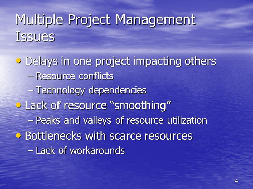 Multiple Project Management Issues