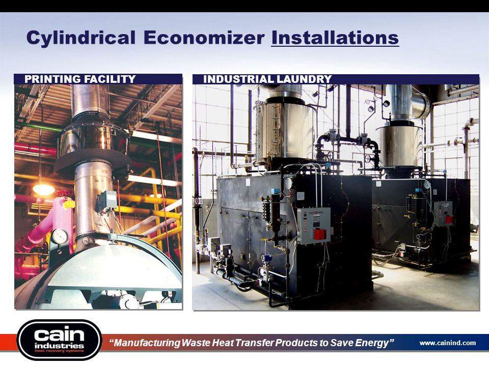 Cylindrical Economizer Installations