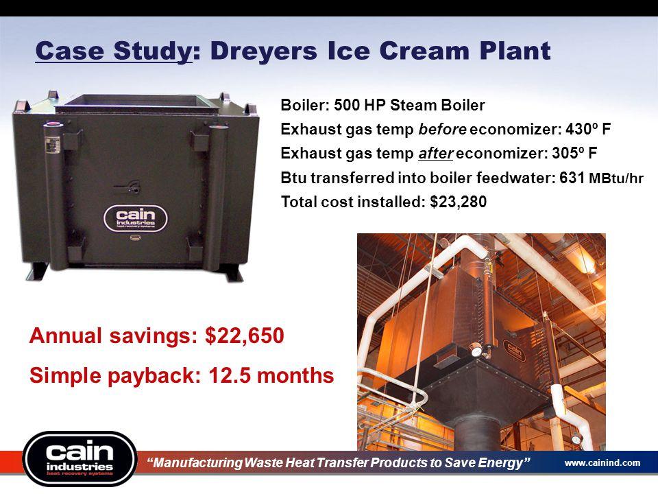 Case Study: Dreyers Ice Cream Plant