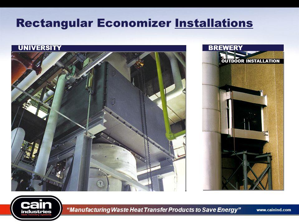 Rectangular Economizer Installations