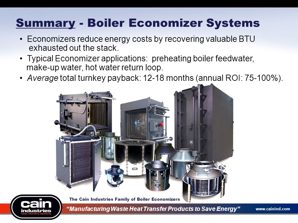 Summary - Boiler Economizer Systems