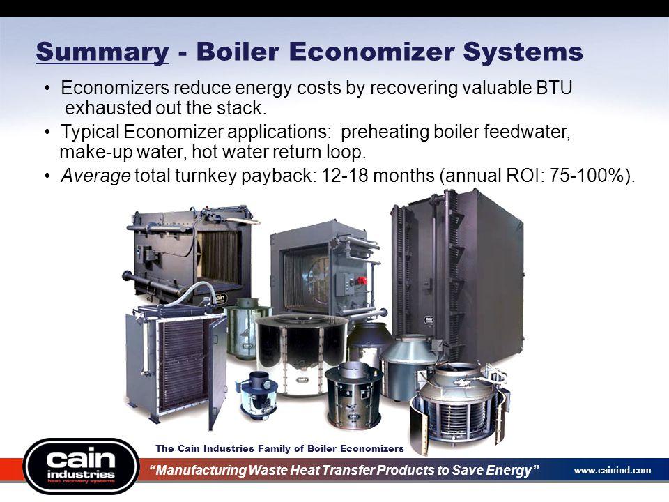 Summary - Boiler Economizer Systems