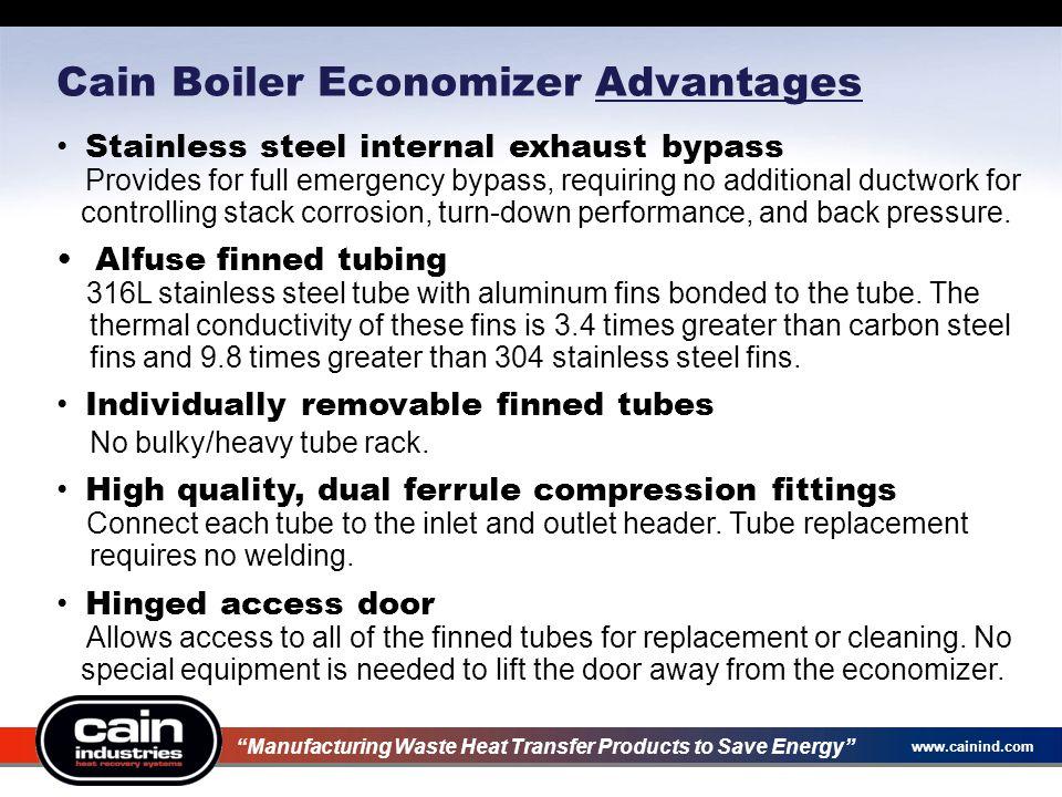 Cain Boiler Economizer Advantages