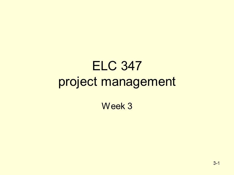 ELC 347 project management