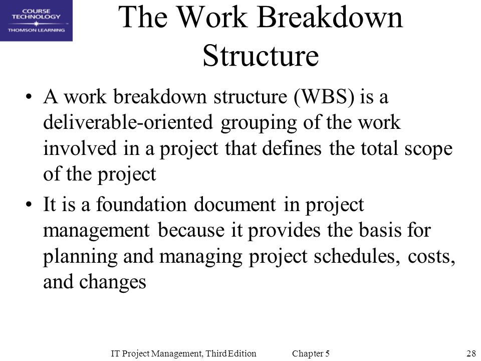 The Work Breakdown Structure