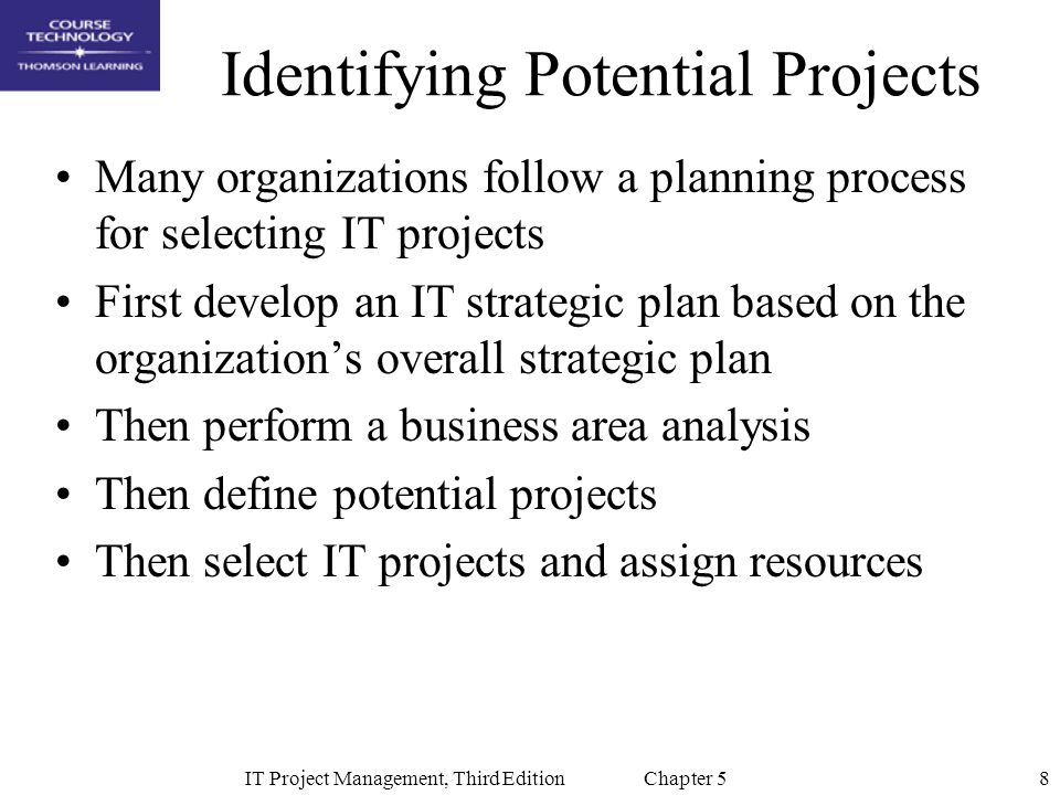 Identifying Potential Projects