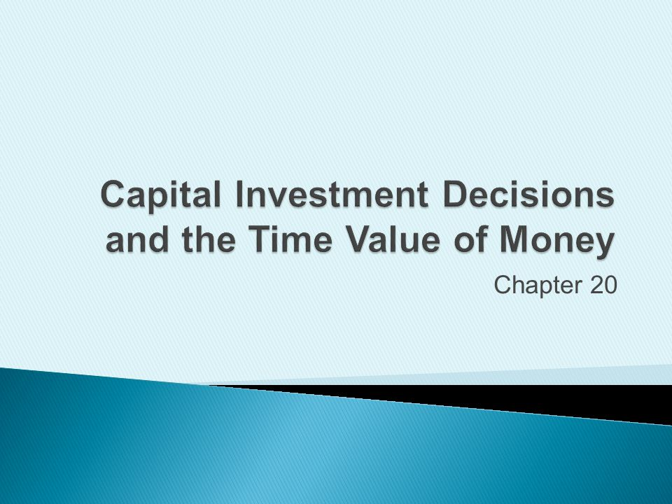 importance of capital investment decisions Capital investment decisions are among the most important decisions made by firms they determine the firm's capacity for providing services and commit the firm's cash for an extended period of time interviews with chief financial officers of leading health care systems reveal capital investment strategies that generally follow the .
