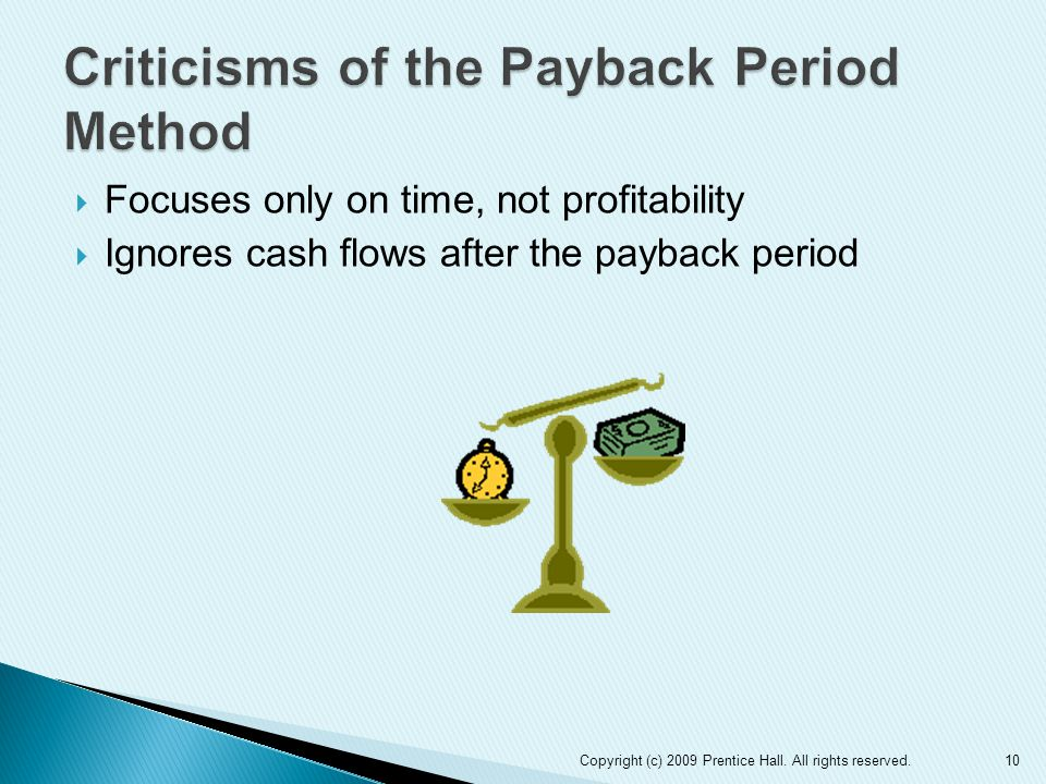 Criticisms of the Payback Period Method