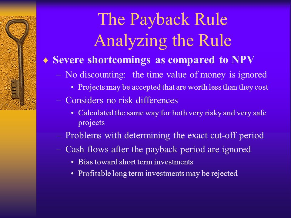 The Payback Rule Analyzing the Rule