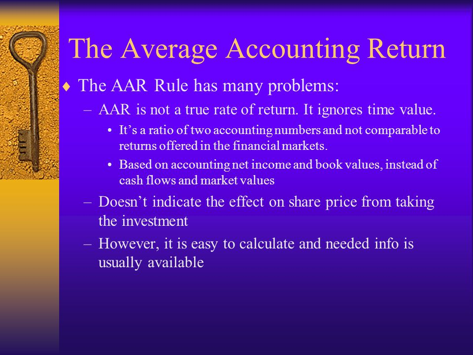 The Average Accounting Return