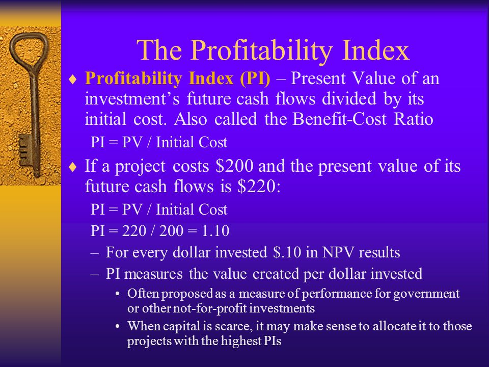 The Profitability Index