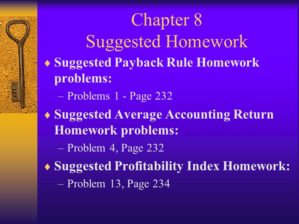 Chapter 8 Suggested Homework