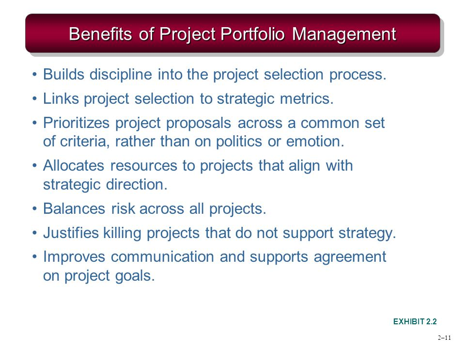 Benefits of Project Portfolio Management