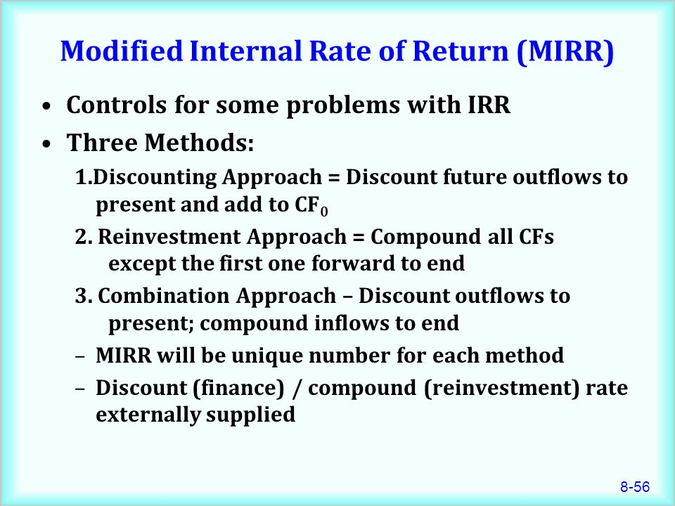 modified internal rate of return pdf