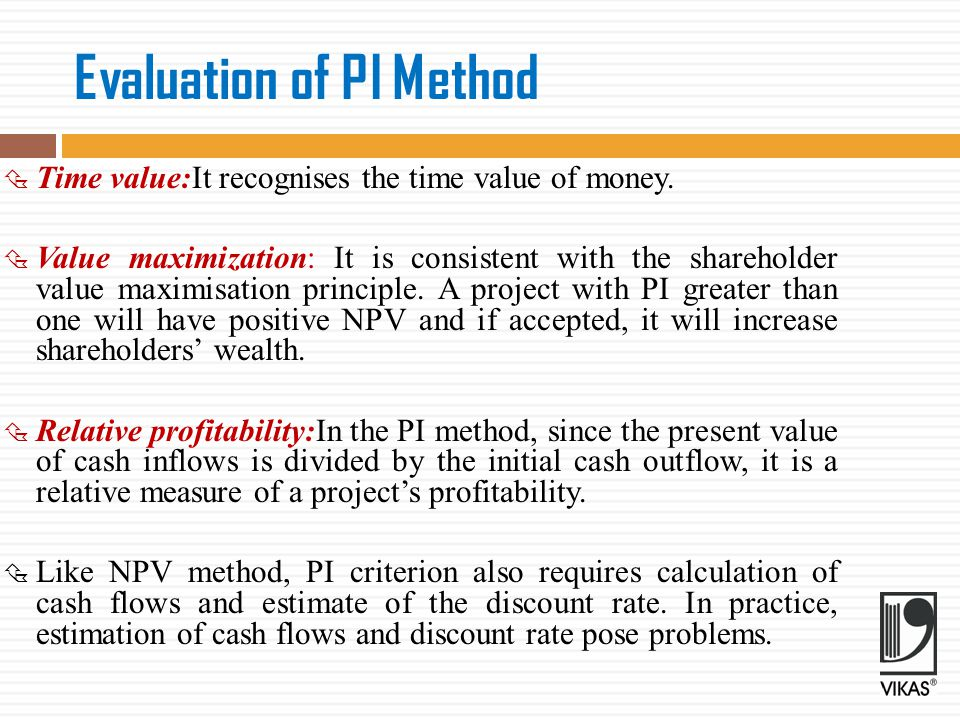 Evaluation of PI Method