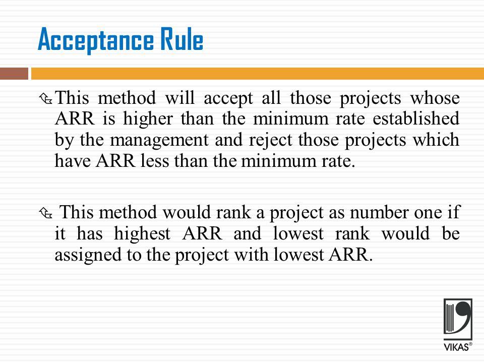 Acceptance Rule