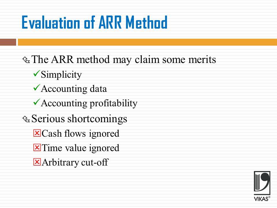 Evaluation of ARR Method