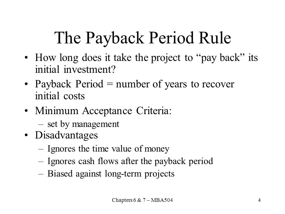 how to find payback period