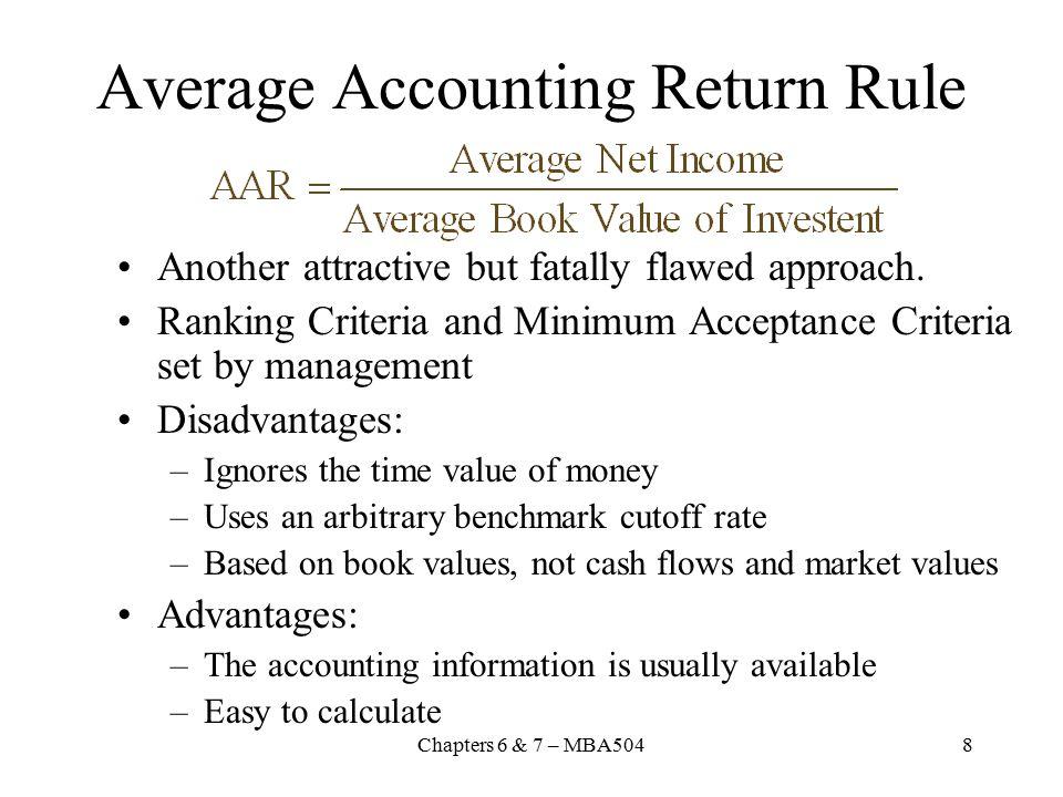 Average Accounting Return Rule
