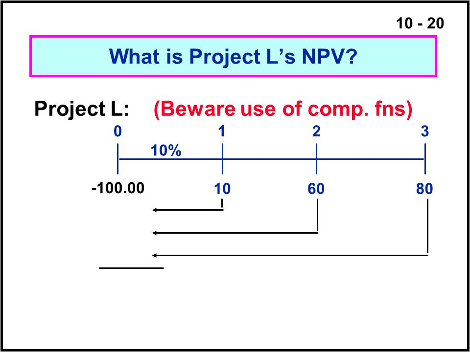 Project L: (Beware use of comp. fns)