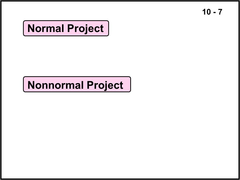 Normal Project Nonnormal Project