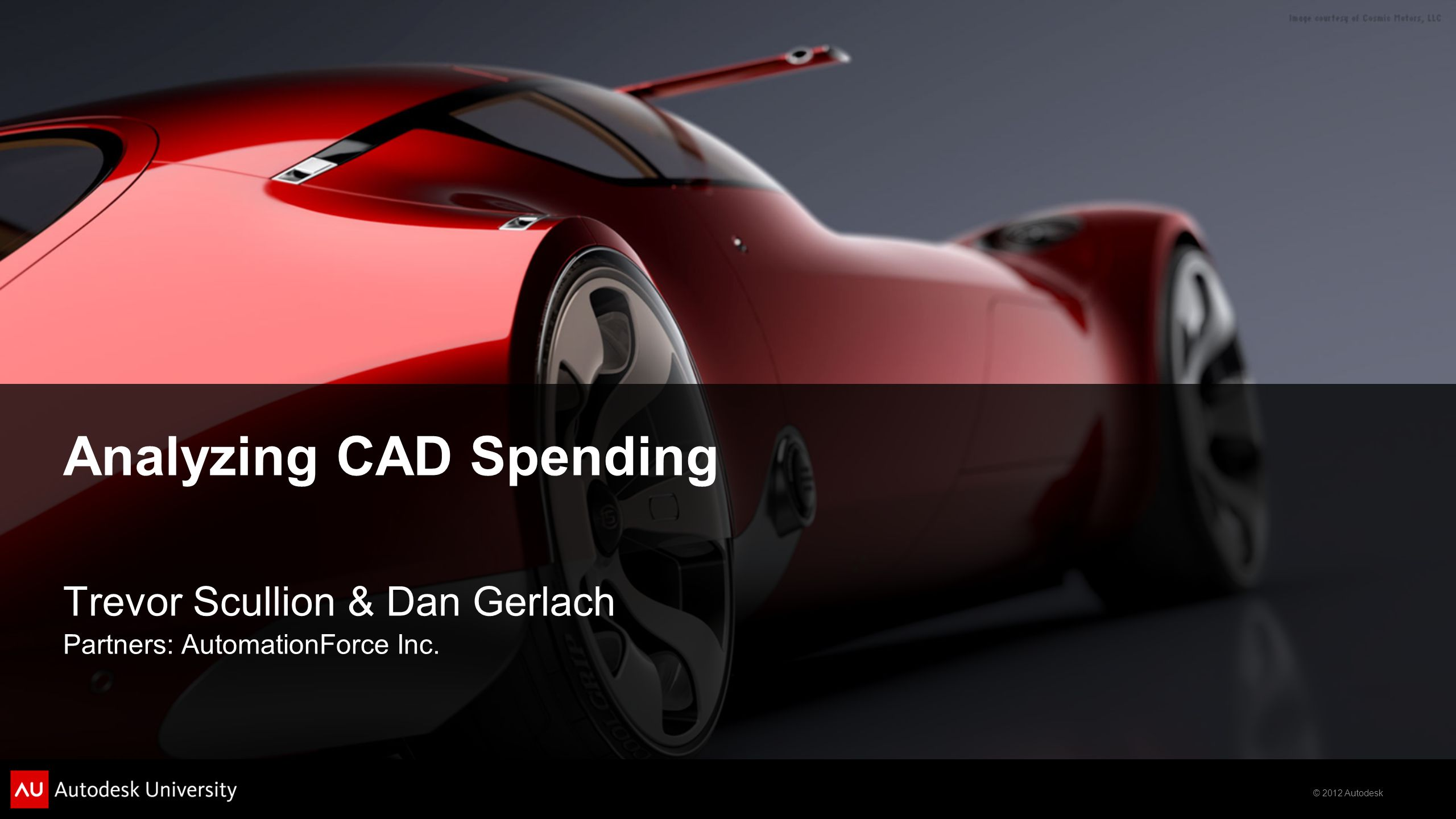 Analyzing CAD Spending