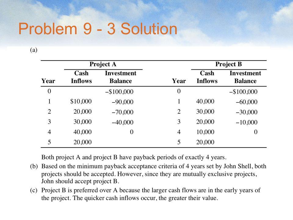 Problem 9 - 3 Solution