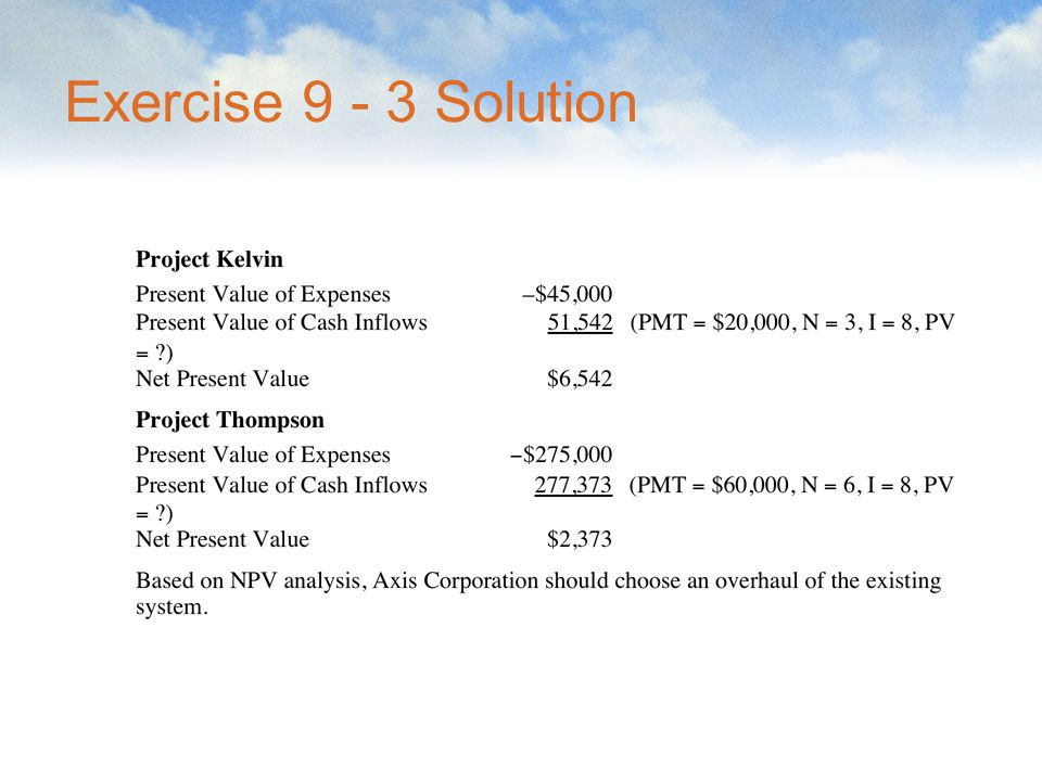 Exercise 9 - 3 Solution
