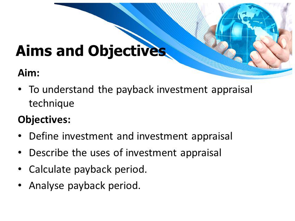 Aims and Objectives Aim: