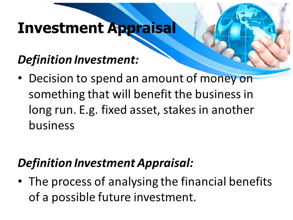 Making Investment Decisions ppt download – Define Business Investment