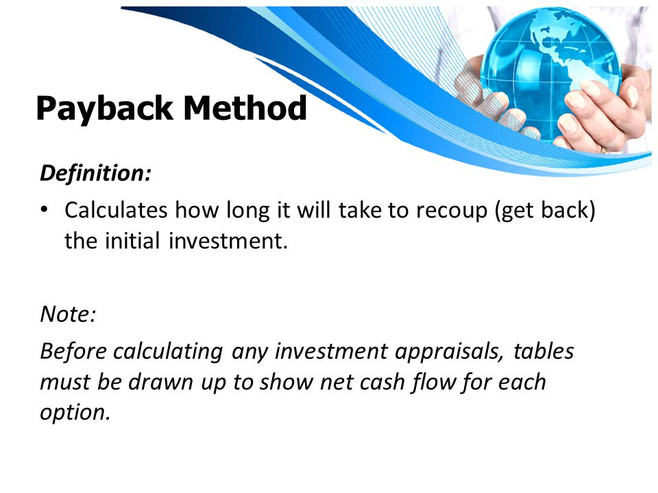Payback Method Definition: