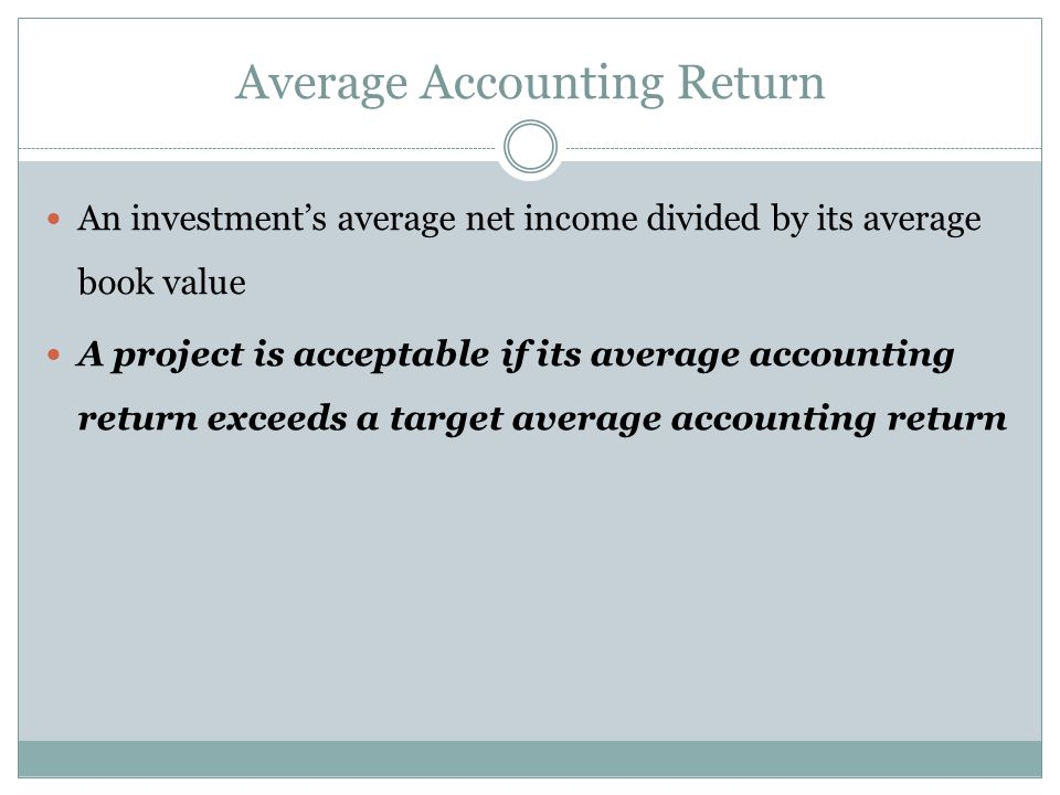 Average Accounting Return