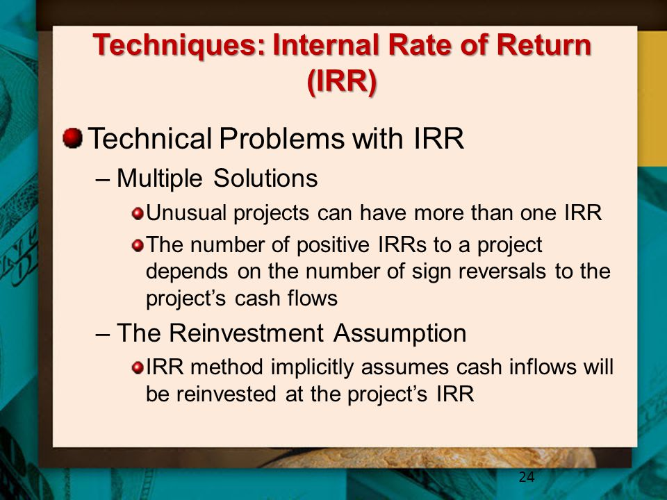 Techniques: Internal Rate of Return (IRR)