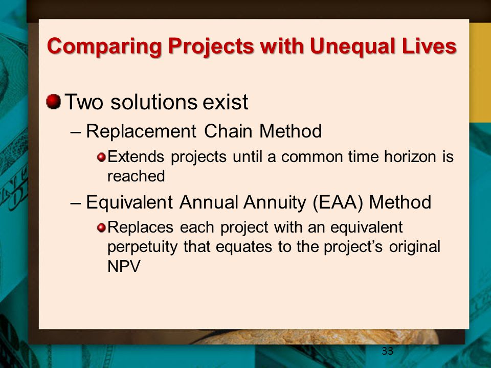 Comparing Projects with Unequal Lives