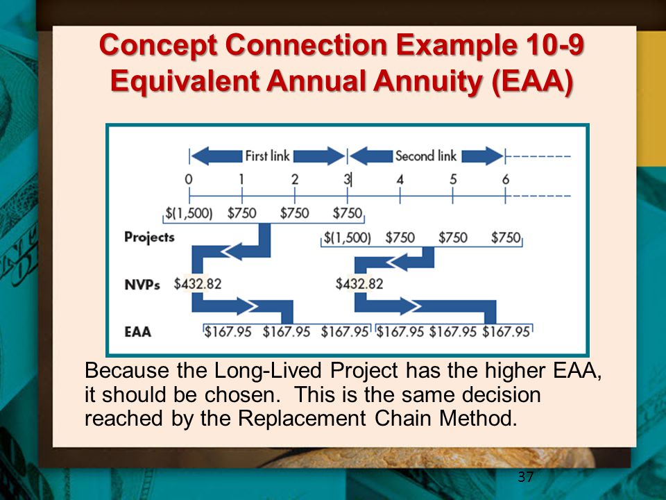 Concept Connection Example 10-9 Equivalent Annual Annuity (EAA)